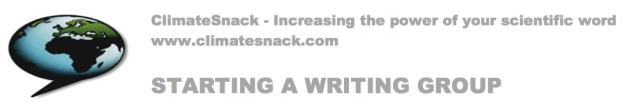Starting writing group