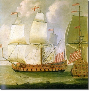 Ships from the East India Trading Company (source: britishempire.co.uk)
