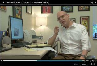 Matt McGarrity in action during his recent online Coursera course (source: Matt McGarrity)