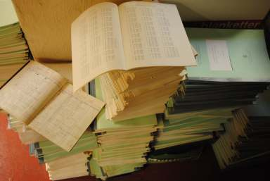Old written and printed observations lost in the research twilight zone of a dusty institute loft (photo: Mathew Reeve)