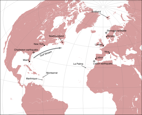 North Atlantic overview, with key locations referred to in text.