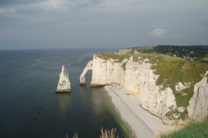 Normandy's white cliff and the needle of Etretat (photo by C. Heuzé)